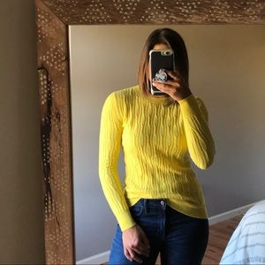 Banana Republic Filpucci Wool Yellow Crew Sweater